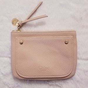 Chloe' Faux Leather Blush Pink Coin Pouch